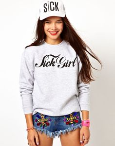 Sick Girl Oversized Sweatshirt