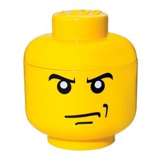 LEGO by Room Copenhagen Small Storage Head Angry Man Toy Box #Contemporary