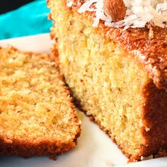 Almond Bread is a moist coconutty bread with a hint of almond. Perfect for breakfast, dessert, or just for a sweet treat!Coconut Almond Bread is a moist coconutty bread with a hint of almond. Perfect for breakfast, dessert, or just for a sweet treat! Easy Keto Bread Recipe, Best Bread Recipe, Quick Bread Recipes, Baking Recipes, Cake Recipes, Healthy Recipes, Healthy Habits, Keto Recipes, Fruit Bread