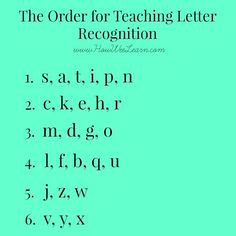 The order for teaching letter recognition, and why! Plus a ton of fun games and activities to have little ones learn the alphabet, letter sounds, and how to print in no time!: alphabet Teaching Letter Recognition - what order to introduce letters Teaching The Alphabet, Teaching Reading, Teaching Letter Sounds, Teaching Toddlers Abc, How To Teach Reading, How To Teach Phonics, Home Teaching, Teaching Babies, Reading Games