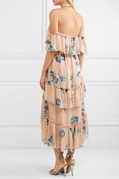 Ulla Johnson - Valentine Ruffled Floral-print Silk-georgette Dress - Beige - US10