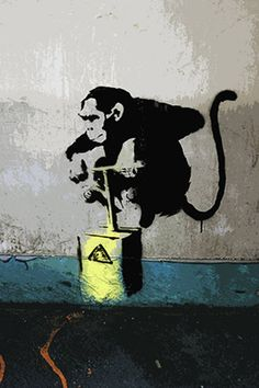 Perhaps one of mysterious graffiti artist Banksys most iconic works is his famed Monkey Detonator piece. The piece shows a monkey about to jump on a detona