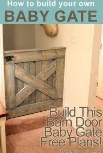 DIY Barn Door Baby Gate | TheWHOot