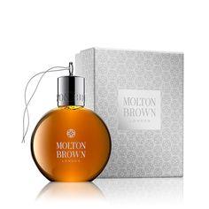 Molton Brown Black Peppercorn Body Wash Festive Bauble 75ml. Boxed.