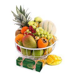 christmas stylish fruit basket with exotic fruit neuhaus chocolates