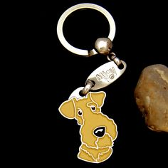 Present//Gift Any Women Mother Someone Special Lakeland Terrier  Mummy Keyring