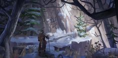 an Icy Path Up the Mountain Side, Erik Taberman 4 Images, My World, Paths, Environment, Artwork, Painting, Work Of Art, Auguste Rodin Artwork, Painting Art