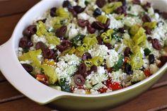 Greek Salad Layered Dip via @Aggie's Kitchen
