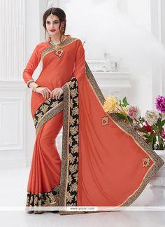 Artistic Chiffon Satin Trendy Saree Model: YOSAR7438