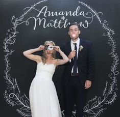 Chalk board photobooth backdrop