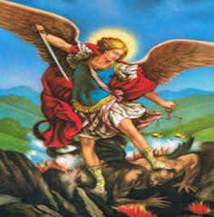 DE HEILIGE AARTSENGELEN: (29 SEPT.) - GEBED tot de H. Aartsengel Michaël: Heilige Aartsengel Michaël, verdedig ons in de strijd; wees onze bescherming tegen de boosheid en de listen van de duivel. Dat God hem gebiede, zo smeken wij ootmoedig.En Gij, Vorst van de hemelse legerscharen, drijf Satan en de andere boze geesten, die tot verderf van de zielen over de wereld ronddwalen, door de goddelijke kracht in de hel terug. Amen.