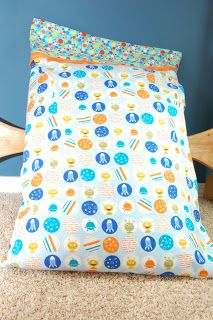 This quick and easy pillowcase makes kids want to go to bed at night! Cotton or flannel fabrics work well. You will need three coordinatin...