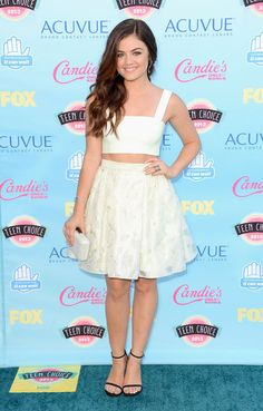 Teen Choice host Lucy Hale in Houghton