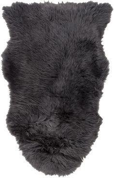 Surya SHS9602 Sheepskin Black Rectangle Area Rug