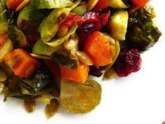 Voici une belle recette  d'automne très facile à réaliser, colorée et absolument délicieuse. Ces légumes accompagnent très bien les viandes ...