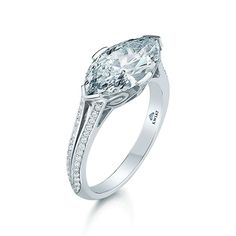 Split shank marquise diamond ring.
