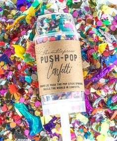 Have guests send off the bride and groom with confetti pops instead of rice or birdseed. Looks amazing in photos!
