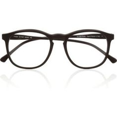 Illesteva Hudson Optical round-frame matte-acetate glasses ($220). I want these! | Spectacles | Pinterest