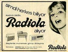 """""""Radyo değil Radyola!'' (1968) #vintage #reklam #istanbul #advertising #radyola #radyo #istanlook"""