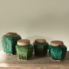 Antiek Chinese groene gemberpotten
