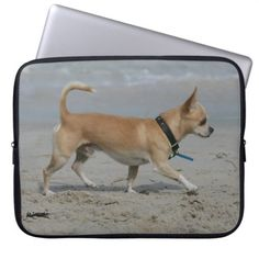 Chihuahua on Beach Laptop Sleeve  chihuahua meme, diy chihuahua clothes, chihuahua birthday #chihuahuadad #chihuahuaofinstagaram #chihuahuasantiago Chihuahua Clothes, Chihuahua Puppies, Custom Laptop, Laptop Sleeves, Looks Great, Your Style, Meme, Beach, Funny