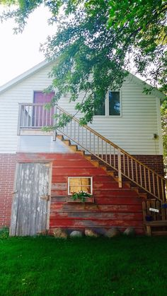 Repurposed 100+ y/o Barn wood garden shed...take the tour!