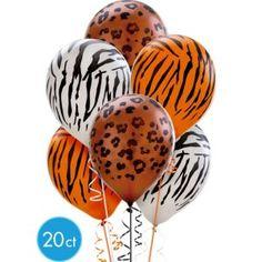 Animal Print Latex Balloons 12in 20ct