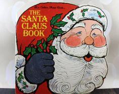 Vintage Christmas Book - The Santa Claus Book by Aurelius Battaglia - Retro Christmas - Holiday Books by StrikingThirteen on Etsy Christmas Books, Retro Christmas, Christmas Holidays, Shape Books, Childrens Books, Santa, Etsy Shop, Shapes, Unique Jewelry