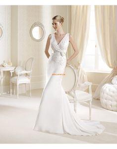 Glamourös & Dramatisch 3/4 Arm Reißverschluss Brautkleider 2014