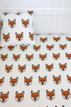 Tobias & the Bear JUST CALL ME FOX COTBED SHEET
