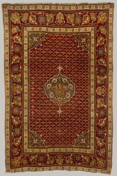 Africa | Carpet from Cairo, Egypt | Ottoman period (ca. 1299–1923), ca. 1550 | Wool (warp, weft, and pile); asymmetrically knotted pile