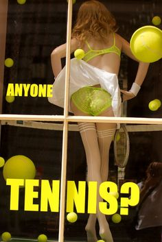 Anyone for Tennis? Window display design, production and installation. Photo by Bruce Thomson.