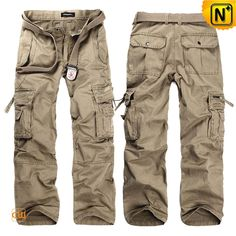 Mens Loose Fit Long Cargo Pants CW140288  Available in 4 colors, crafted from 100% pure cotton.