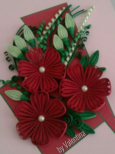 Quilling Flowers Tutorial, Paper Quilling Designs, Quilling Craft, Quilling Patterns, Quilling Ideas, Foam Christmas Ornaments, Quilling Christmas, Christmas Crafts, Arts And Crafts
