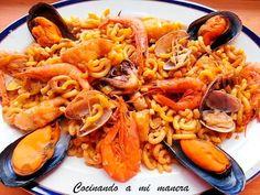 Fideuá de Pescado y Marisco | Oido Cocina Recetas y más