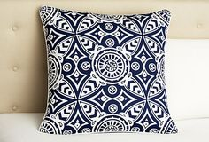 One Kings Lane - Serena & Lily Bedding and Furniture - Catalina Euro Sham, Blue/White