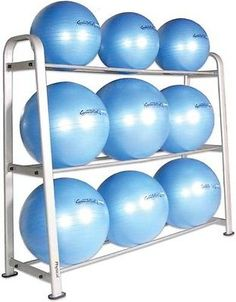 Studio heavy duty shelf oval #steel tube 12 gym ball #holder #storage rack…