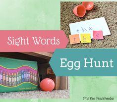 Sight Words Egg Hunt #playfullearning | P is for Preschooler
