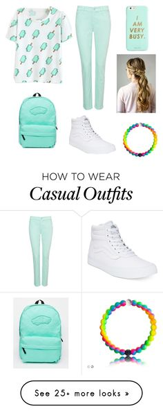 """casual school outfit ^°^"" by alikitty7 on Polyvore featuring NYDJ, Vans and ban.do"