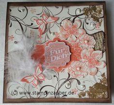 """For you  """" Für Dich"""" mit Stampin' Up! Stempelset Everything Eleanore Vintage Nostalgie Handmade by Silvi Unabh. Stampin' Up! Demonstratorin aus Jena Thüringen www.stampinzauber.de"""