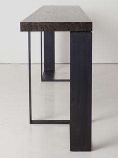 Rectangular steel console table ST MALO by INTERNI EDITION | #design Janine Vandebosch