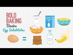 Egg Substitutes for Baking Recipes (Vegan & Vegetarian Baking) Gemma's Bold Baking Basics Ep 6 Fancy Desserts, Vegan Desserts, Just Desserts, Egg Substitute In Baking, Oatmeal Bread, Baking Basics, Pork Dishes, Food Labels, Detox Drinks