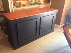 My next furniture project, for the foot of my bed -- make it a bench (cushion velcroed on top?) with the flip-top too