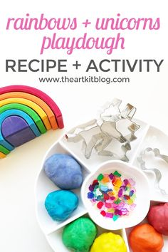 Rainbows and Unicorns Playdough Activity {Playdough Recipe Included} Today we're sharing one of our all-time favorite playdough themes – rainbows and unicorns. This is the perfect activity for children of all ages and adults too! We love how colorful and cheery this activity is. Read on to see all the fun we had with this [...]