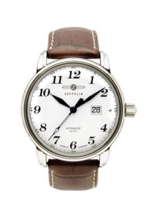 Zeppelin Graf Zeppelin Automatic watch Exhibition back Beige dial Sport Watches, Cool Watches, Watches For Men, Men's Watches, Stylish Watches, Pocket Watches, Wrist Watches, Zeppelin Watch, Rolex Datejust