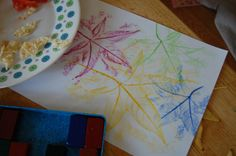 fall activities for kids - leaf rubbings & 8 other fall books & activities | HowToHomeschoolMyChild.com