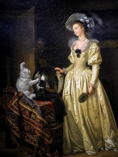 Le Chat Angora Marguerite Gérard and Jean Honore Fragonard 1780 Bernheimer Fine… Classic Paintings, Old Paintings, Romantic Paintings, Beautiful Paintings, Jean Antoine Watteau, Jean Honore Fragonard, Oil Painting Reproductions, Artist At Work, Cat Art