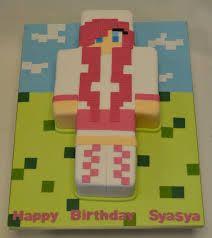 girl minecraft cakes