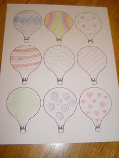 hot air balloons that the kids can decorate for our door.