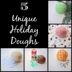 5 unique holiday play doughs